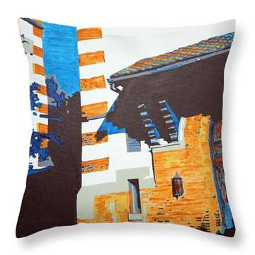 Shrine Arched Door Detail Throw Pillow by Sheri Parris