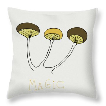 Throw Pillow featuring the drawing Shroom by Frank Tschakert