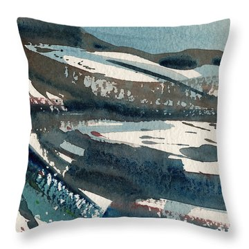 Sierra Abstract 1 Throw Pillow by Donald Maier