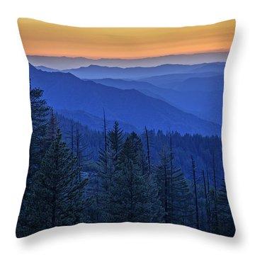 Sierra Fire Throw Pillow by Rick Berk