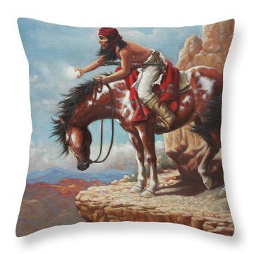 Signal Throw Pillow by Harvie Brown
