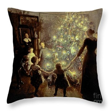 Silent Night Throw Pillow by Viggo Johansen