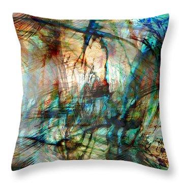 Silent Warrior Throw Pillow by Linda Sannuti
