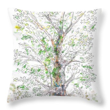 Silent Witness Throw Pillow by Regina Valluzzi