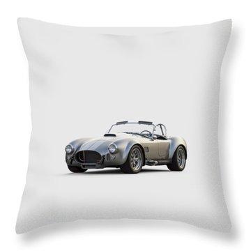 Silver Ac Cobra Throw Pillow by Douglas Pittman