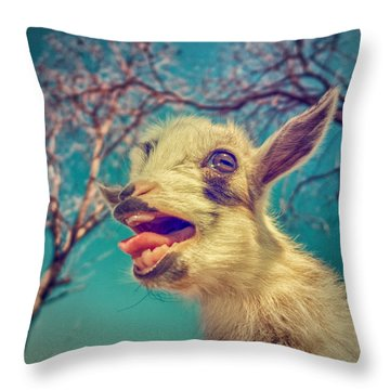 Sing It Again Throw Pillow by TC Morgan