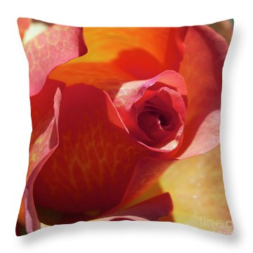 Single Rose Throw Pillow by Gwyn Newcombe