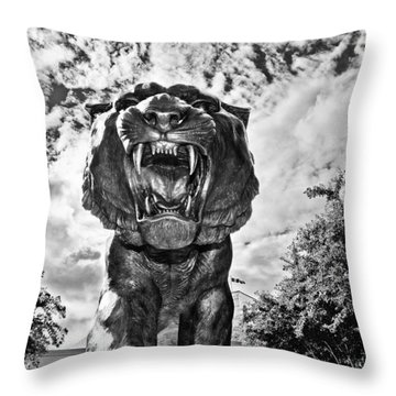 Sir Mike Throw Pillow by Scott Pellegrin