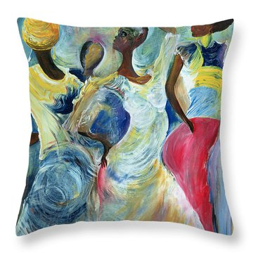 Sister Act Throw Pillow by Ikahl Beckford