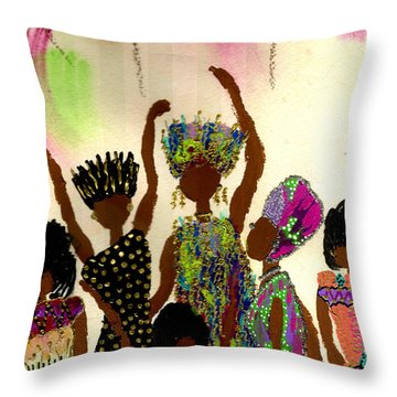 Sisterhood Throw Pillow by Angela L Walker