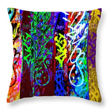 Six Seans Throw Pillow by Randall Weidner