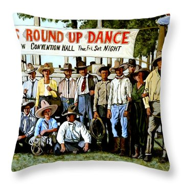 Skeeter Bill's Round Up Throw Pillow by Tom Roderick