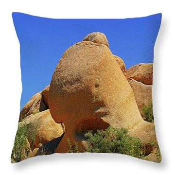 Skull Rock Joshua Tree National Park California Throw Pillow by Christine Till