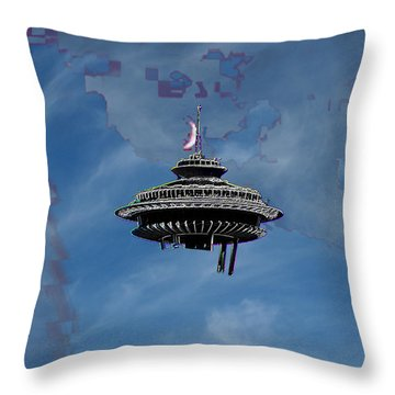 Sky Needle Throw Pillow by Tim Allen