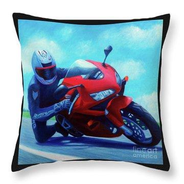 Sky Pilot - Honda Cbr600 Throw Pillow by Brian  Commerford