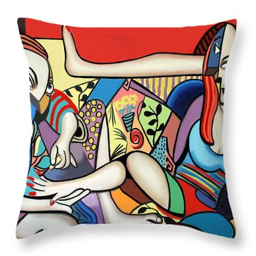 Slave Labor Throw Pillow by Anthony Falbo
