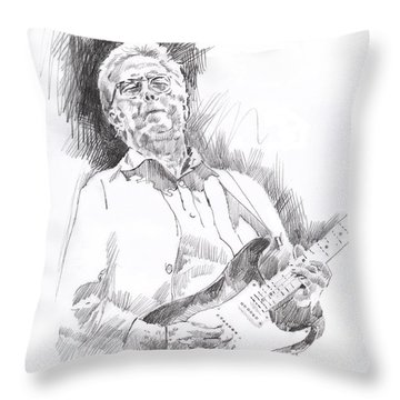 Slowhand Throw Pillow by David Lloyd Glover