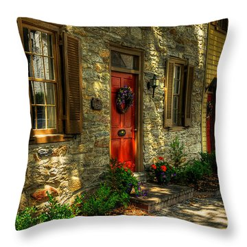 Small Town Usa Throw Pillow by Lois Bryan
