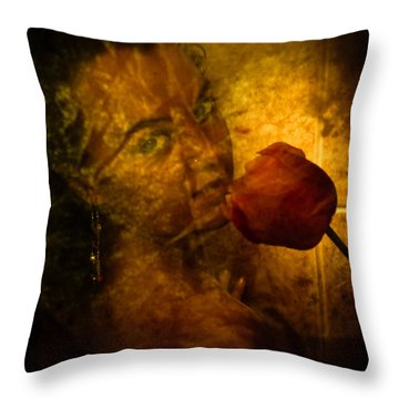 Smelling The Flowers Throw Pillow by Scott Sawyer
