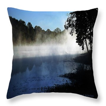 Smoke On The Water Throw Pillow by DigiArt Diaries by Vicky B Fuller