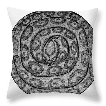 Snake Ball Throw Pillow by Nick Gustafson