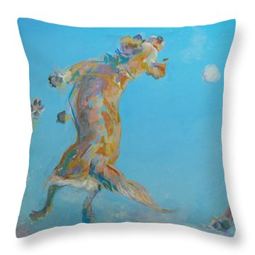 Snow Much Fun Throw Pillow by Kimberly Santini