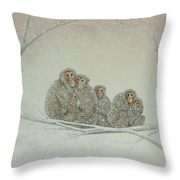 Snowed Under Throw Pillow by Pat Scott