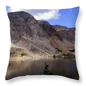 Snowy Mountian Loop 8 Throw Pillow by Marty Koch