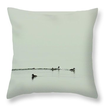 So Far Away Throw Pillow by Rebecca Sherman
