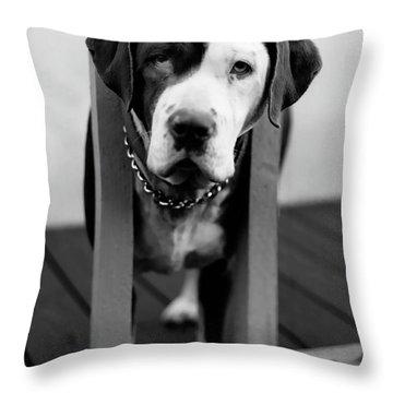 So Sad Throw Pillow by Peter Piatt