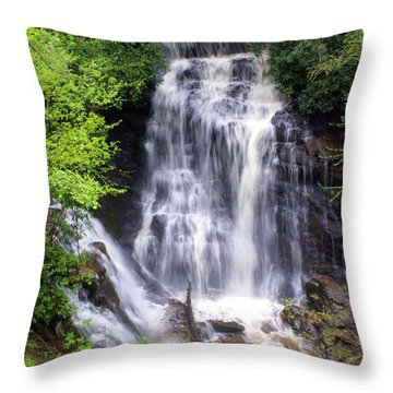 Soco Falls 1 Throw Pillow by Marty Koch
