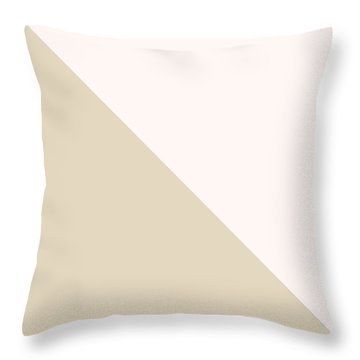 Soft Blush And Champagne Throw Pillow by Linda Woods