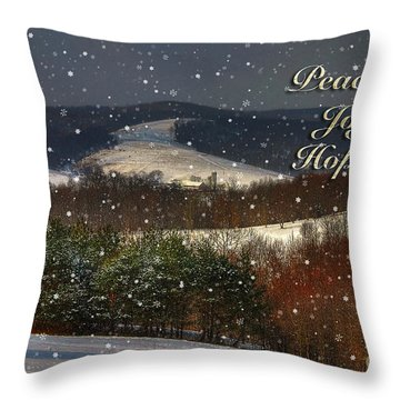 Soft Sifting Christmas Card Throw Pillow by Lois Bryan