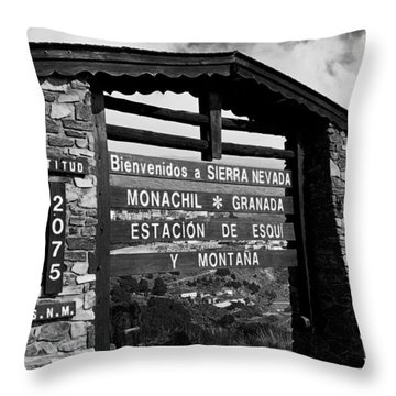 Sol Y Nieve ... Throw Pillow by Juergen Weiss