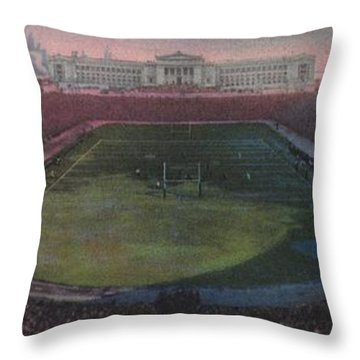 Soldier Field Throw Pillow by American School