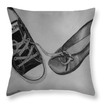 Sole Mates Throw Pillow by Joanna Aud