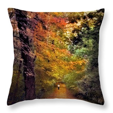 Solo Promenade Throw Pillow by Jessica Jenney