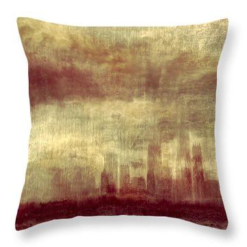 Someone To Hold You Beneath Darkened Sky Throw Pillow by Dana DiPasquale