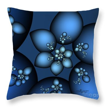 Something Blue Throw Pillow by Jutta Maria Pusl