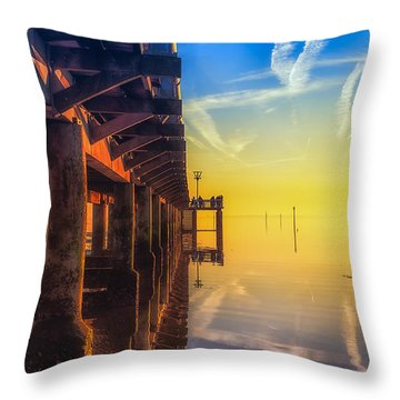 Throw Pillow featuring the photograph Somewhere Else by Thierry Bouriat