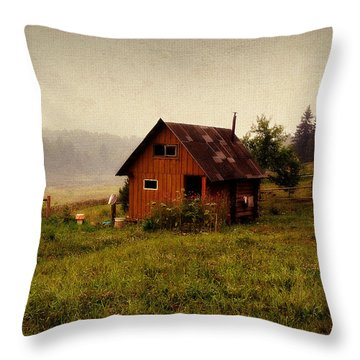 Somewhere In The Countryside. Russia Throw Pillow by Jenny Rainbow