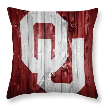 Sooners Barn Door Throw Pillow by Dan Sproul