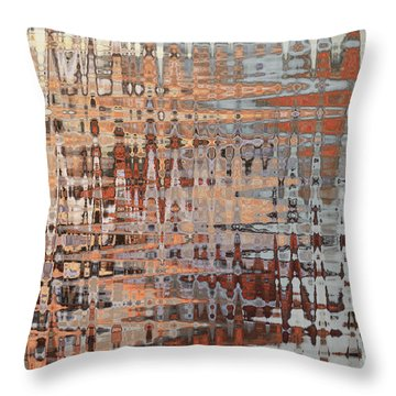 Sophisticated - Abstract Art Throw Pillow by Carol Groenen