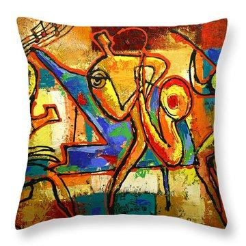 Soul Jazz Throw Pillow by Leon Zernitsky