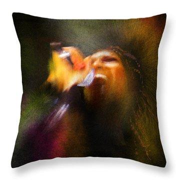 Soul Scream Throw Pillow by Miki De Goodaboom