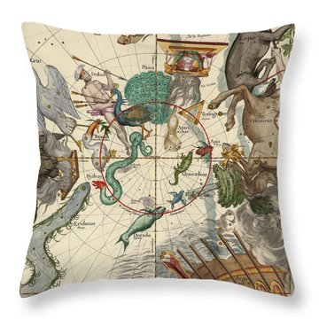 South Pole Throw Pillow by Ignace-Gaston Pardies