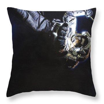 Spacewalk 1  Throw Pillow by Simon Kregar
