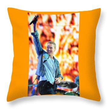 Coldplay4 Throw Pillow by Rafa Rivas