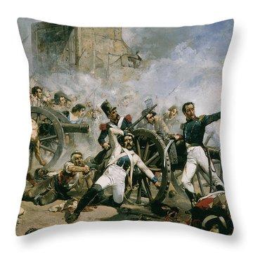 Spanish Uprising Against Napoleon In Spain Throw Pillow by Joaquin Sorolla y Bastida