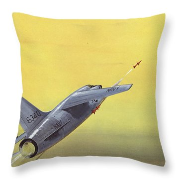 Sparrow Air To Air Missile  Throw Pillow by American School